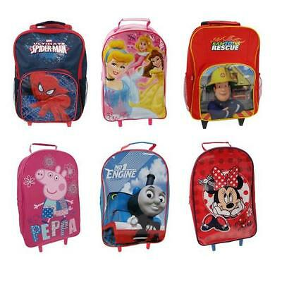 Kids Wheeled Trolley Bag Suitcases - Childrens Disney and Character Designs
