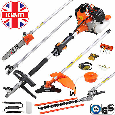 58cc 5 in 1 Petrol Multi Tool Garden Hedge Trimmer Chainsaw Strimmer Brushcutter