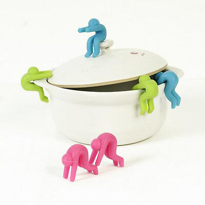 Silicone Kitchen tools Cooking Gadget Pot Spill-proof Lid Heat Resistant Holder
