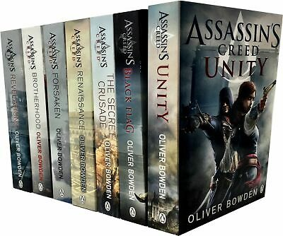Assassins Creed Collection By Oliver Bowden 7 Books Set Renaissance,Unity, New