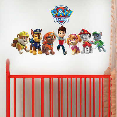 Paw Patrol Gang Decal Girls Boys Kids Bedroom Vinyl Wall Art Sticker Gift