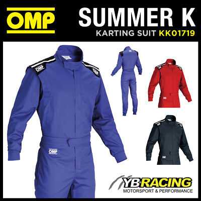 Kk01719 Omp Summer K Kart Suit Indoor Karting Overalls 3 Colours