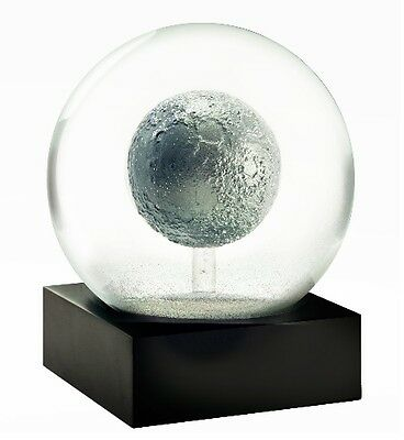 CoolSnowGlobes Moon Grey Rock Chillingly Beautiful Unique Glass Snow Globe