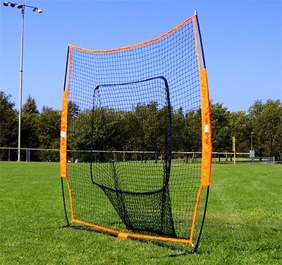 Bow Net Big Mouth Baseball Softball Bownet Hitting Throwing Net with Carry Bag