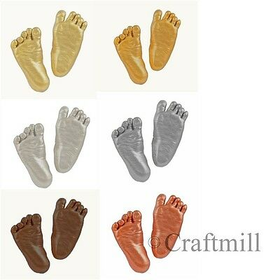 Large 3-D Baby Hand Foot Cast Casting Imprint Kit Gift CHOOSE bronze silver gold