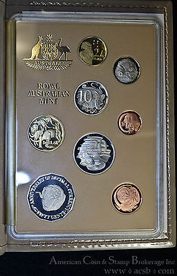 Australia 1991 8 Coin Proof Set Royal Australian Mint Last 1c & 2c Popular.