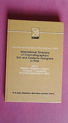 (R10_2_04) International Directory of Cinematographers, Set- And Costume Designe