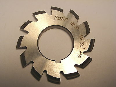 "NOS Decovich Inc. CAN 2"" Dia. Involute Gear Cutter 20 DP 14-1/2 PA #8"