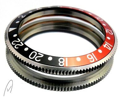 Black red stainless steel bezel with aluminum insert for Vostok diver watches