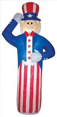 4th Of July 12' Tall Gigantic Uncle Sam Patriotic Airblown Inflatable Yard Decor