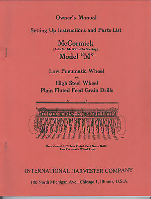 mccormick deering model m grain drill manual ihc international rh picclick com McCormick Deering Grain Drill McCormick Grain Drill Model 10