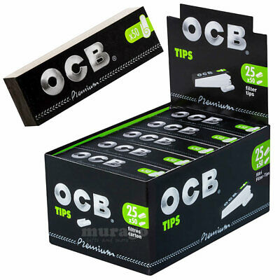 OCB 25er Box Filtertips PREMIUM FILTER TIPS je 50 Tips