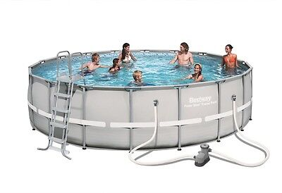 Bestway 18ft Power Steel Frame Swimming Pool (26,000L)