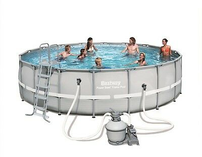 Bestway 18ft Power Steel  Frame Swimming Pool (26,000L) with Sand Filter Pump