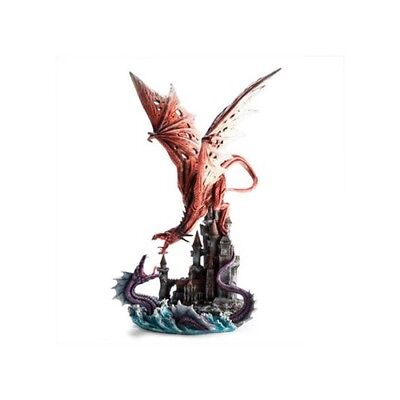 Collectible Gift Items Great Fight Red Dragon Versus Purple Sea Serpent Figurine
