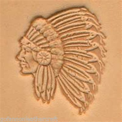Craftool 3-D Leather Stamp Indian Chief (88429-00)
