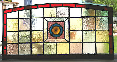 Ref Sg186 -  A Very Attractive Stained Glass Panel & Frame