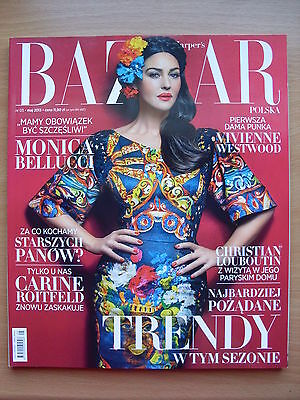 MONICA BELLUCCI on front cover HARPER'S BAZAAR Poland, May 2013, 5/2013
