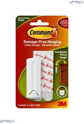 Command 3M Wire Backed Picture Hanger Hook White 17041 Damage Free Hanging