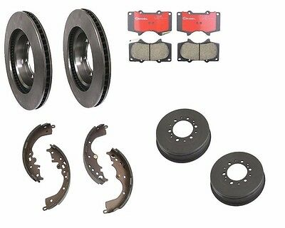 For Toyota Tacoma Front Brake Rotors w/Pads Brembo Rear Brake Drums w/ Shoes