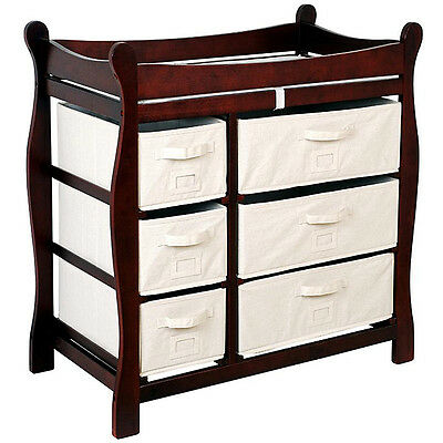 Badger Basket Cherry 6-basket Baby Changing Table