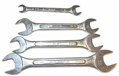 NOS SK USA 4PC PRO 9x11, 16x18, 17-19 & 21x23mm  METRIC OPEN ENDED WRENCH GROUP