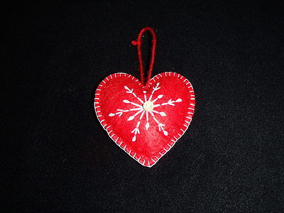 Scandinavian Swedish Norwegian Danish Felt Heart Ornaments