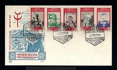 10634-SPANISH MOROCCO-SPAIN COLONIES-FIRST DAY COVER TETUAN.1950.Marruecos.FDC.