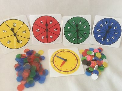 Maths Kit - Primary School Great for classroom and homework  inc Counters, Clock