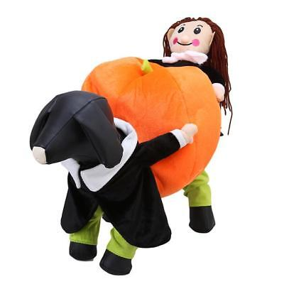 Pet Halloween Costumes Puppy Dog Pumpkin Cosplay Apparel Coat Clothes Outfit S