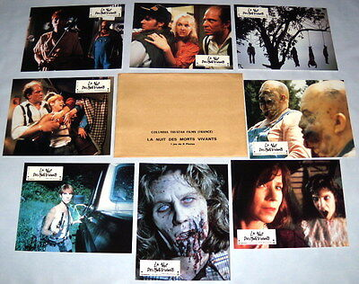 THE NiGHT OF THE LiViNG DEAD Tom Savini Zombies  8 FRENCH LOBBY CARDs