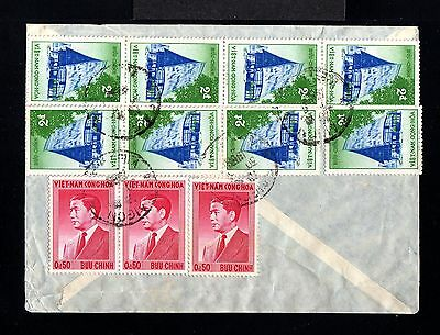 10624-VIETNAM-AIRMAIL COVER SAIGON to MARSEILLE (france) 1958.French colonies.