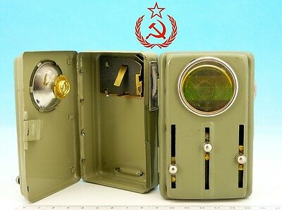Vintage Soviet WWII Military TORCH Flash Color Signal Light