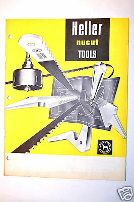 HELLER NUCUT TOOLS CATALOG 1966 #RR656 files hole saw band saw blade hack saw