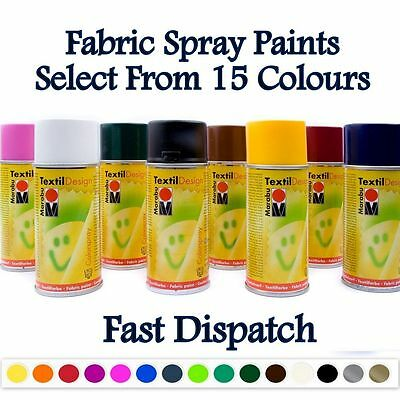 Marabu Textile Spray Paint Textil Fabric Spray Paint Design Clothes 15 Colours