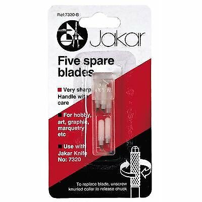 Five Replacement Refill Spare Blades For Swivel Knife Art Graphics Jakar 7320-B