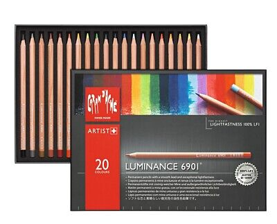 Caran Dache Luminance 6901 Professional Permanent Colour Pencils (20 Colour Set)