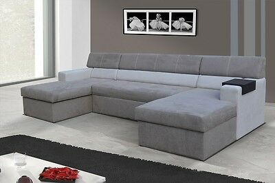 Interior design Markos Corner Couch Sofa with Bed function 01551