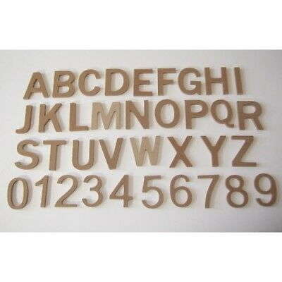 MDF NUMBERS LETTERS ALPHABET -from small 4.4cm - large15cm Decopatch & Decoupage