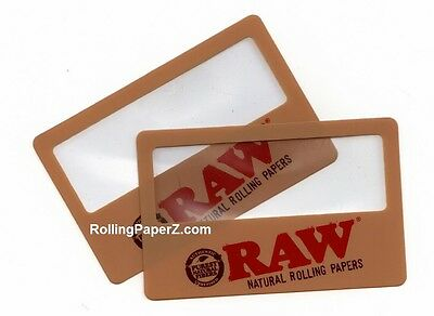 TWO New! RAW Rolling Papers Magnifier Scoop Cards - SEE WHAT YOU ARE SMOKING!