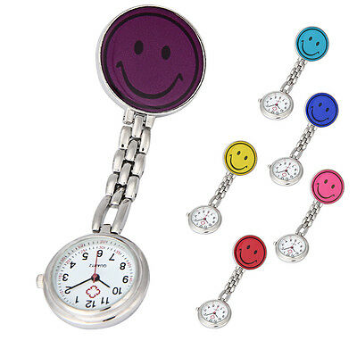 Mini Nurse Clip-on Fob Brooch Pendant Hanging Smile Face Watch Pocket Watch New