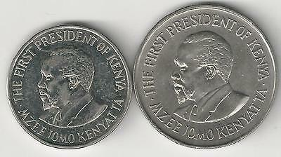 2 DIFFERENT 1 SHILLING COINS from KENYA - 1978 & 2010 (2 TYPES)