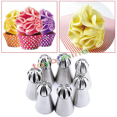 6pcs Sphere Ball Tip Nozzles Icing Piping Russian Nozzle For Cake Baking