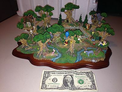 Disney The Hundred Acre Wood Miniature Diorama By Danbury Mint Incredible Detail