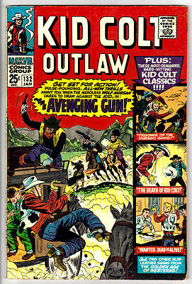 KID COLT OUTLAW #132 (FN-) Giant-Size! 68 Pages! Classic Western Silver-Age!