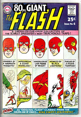 EIGHTY PAGE GIANT #4 (FN-) FLASH! 80 Pages! Great Read! 1967 Silver-Age