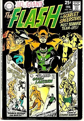 FLASH #178 (FN-) Eighty-Page Giant! Green Lantern Appearance! Team-Ups! 1968