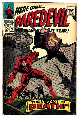 DAREDEVIL #20 (VG/FN) Early Appearance of The OWL! 1966 TV Netflix Show! LQQK