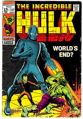 INCREDIBLE HULK #117 (VG/FN) Cover Story Appearance of the LEADER! 1969 Classic!