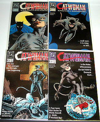CATWOMAN #1-4 (NM-) Full Set! DC Selina Kyle in her 1st Solo Series! Batman 1989